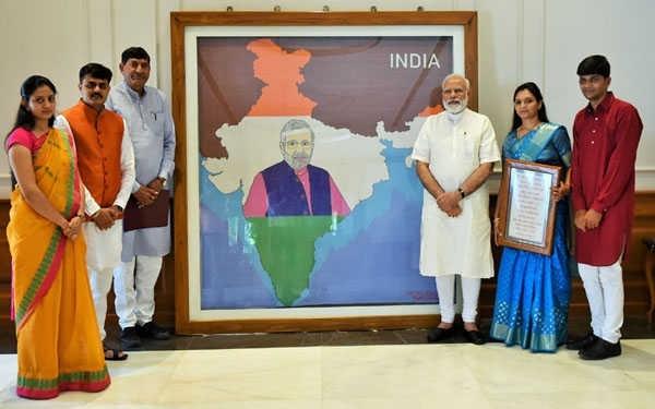 P M Modi artwork artist Khushboo Akash Davda.jpg