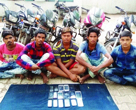 5 thieves nabbed; booty worth Rs 7 lakh seized