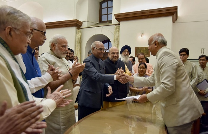 Ram Nath Kovind filing nomination papers for the Presidential Election.jpg