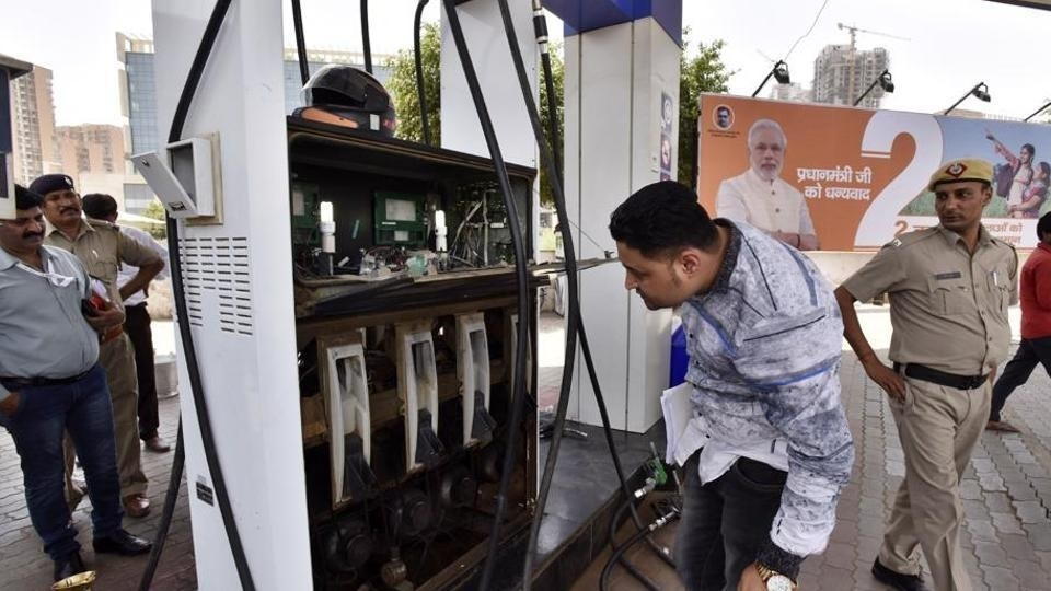 Petrol pumps raided in city
