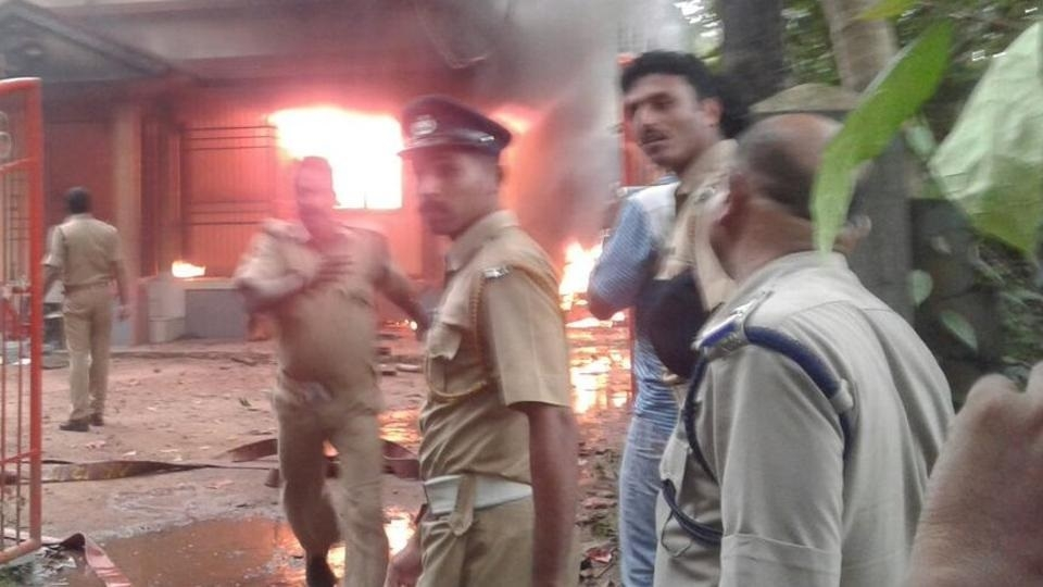 RSS office, BJYM worker's house set on fire in Kerala