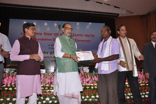 C'garh farmer honoured at national-level