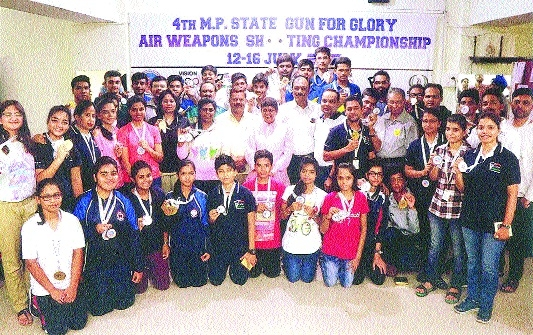 Jabalpur emerges overall champion in Gun for Glory Air Weapon Shooting C'ship