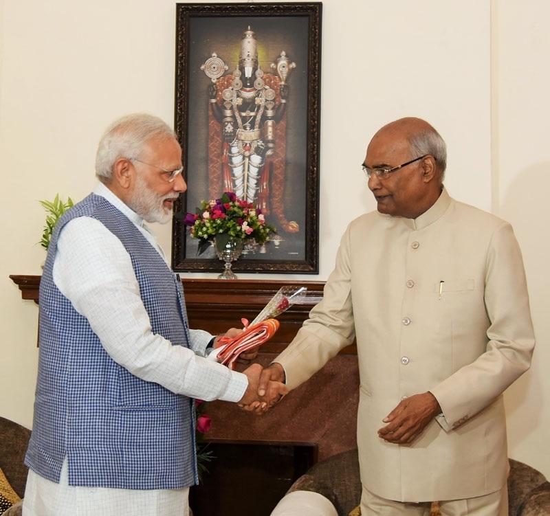 Prime Minister Narendra Modi congratulates the President elect Ram Nath Kovind