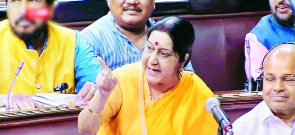 China trying to change status quo on border: Sushma