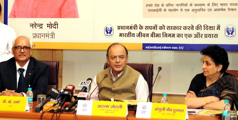 Jaitley launches pension scheme for sr citizens