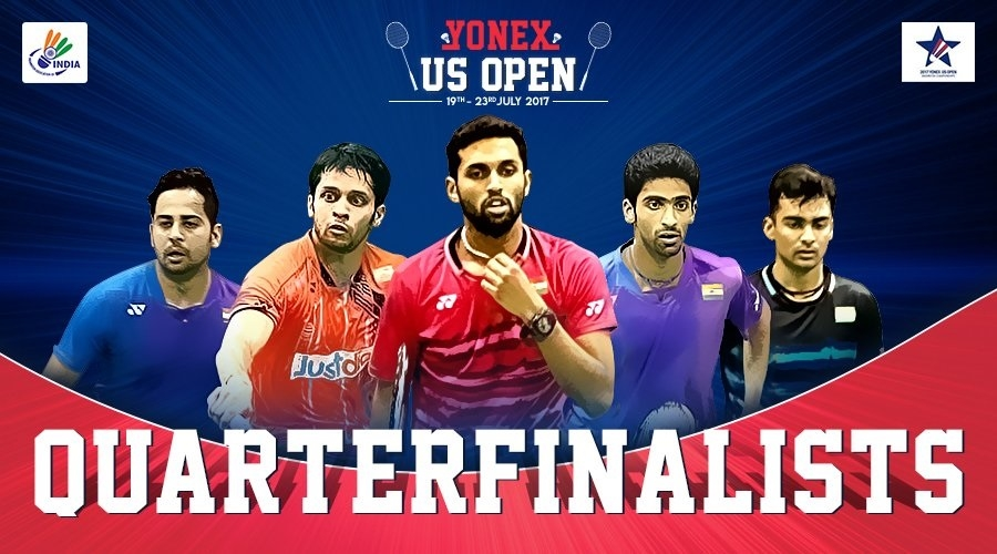 Kashyap, Prannoy, Manu-Sumeeth in SF