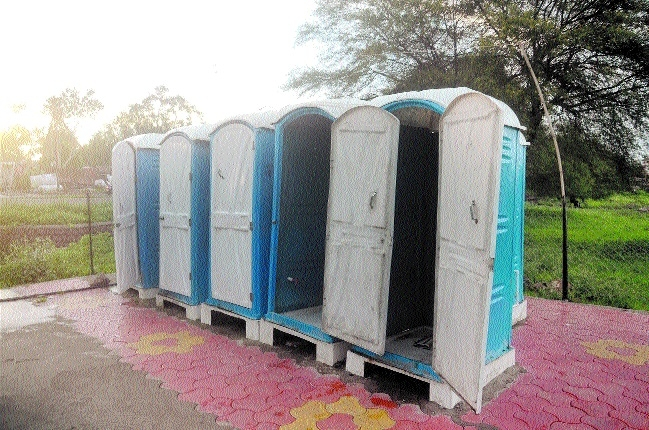 Modular toilets sans water tanks in many areas of city