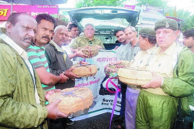 38 snakes caught from different areas due to alertness of forest officers