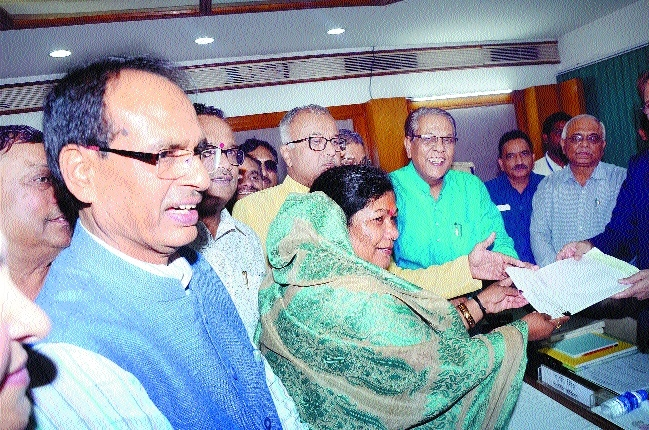 BJP's RS candidate Uike files nomination