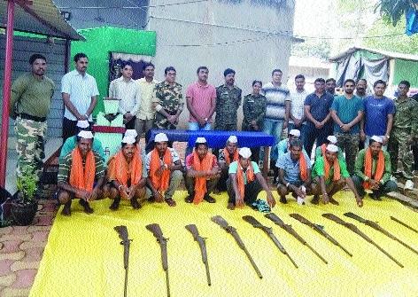 Bhamragad villagers surrender guns