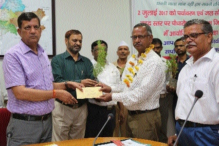 Collector distributes pension payment orders