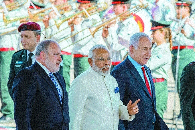 Special welcome to Modi in Israel