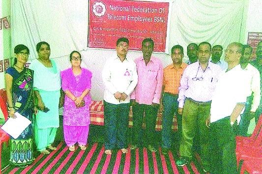 BSNL employees press for demands