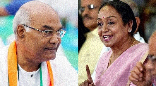 Ram Nath Kovind, Meira Kumar in Raipur on 12th