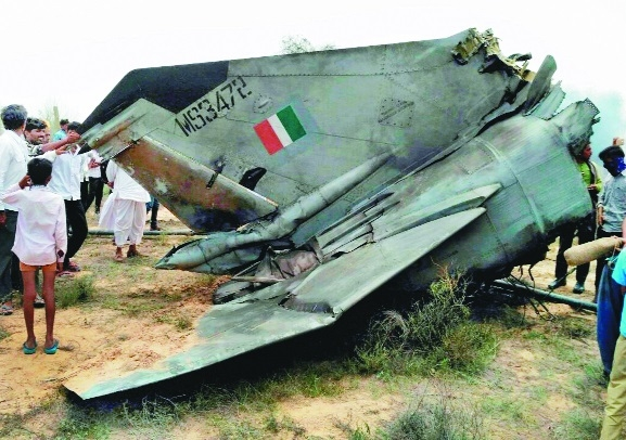 IAF plane crashes, pilots safe