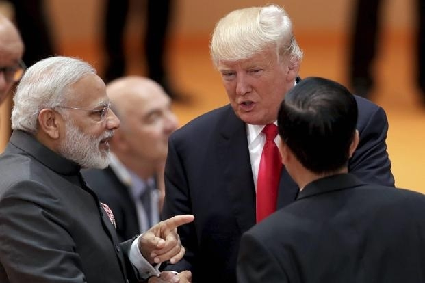 Trump walks up to Modi for 'impromptu' chat