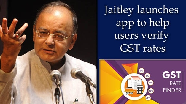 Jaitley launches app to verify GST rates