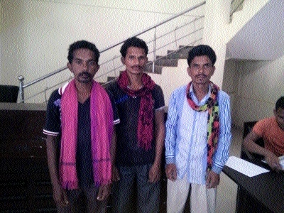 Three wanted Naxals arrested