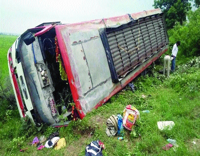 One killed, many hurt as bus falls into gorge