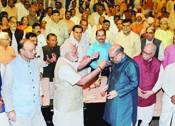 Shah brought back Jan Sangh work culture: Modi