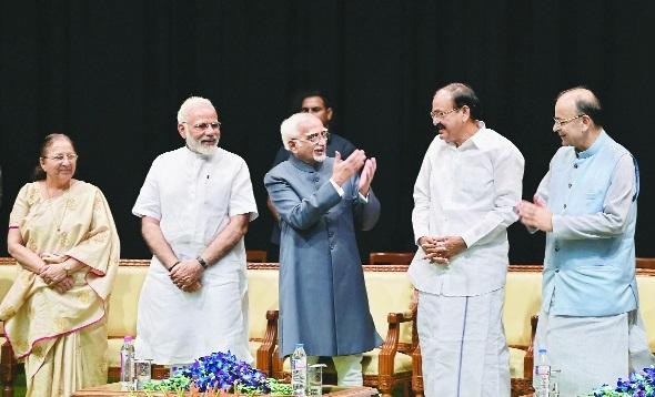 Ansari given warm farewell as Rajya Sabha Chairman