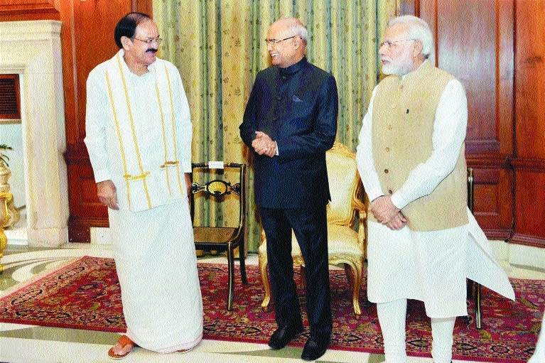 Venkaiah sworn in as Vice-President