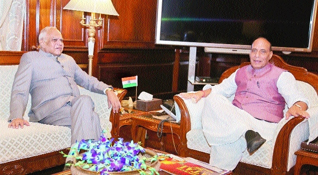 Purohit meets President and Home Minister