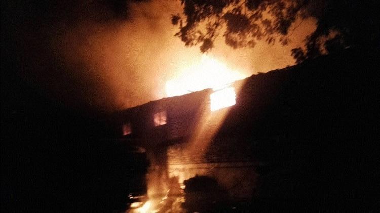 Inferno guts goods worth lakhs