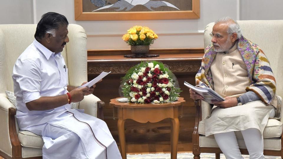 Panneerselvam meets Modi
