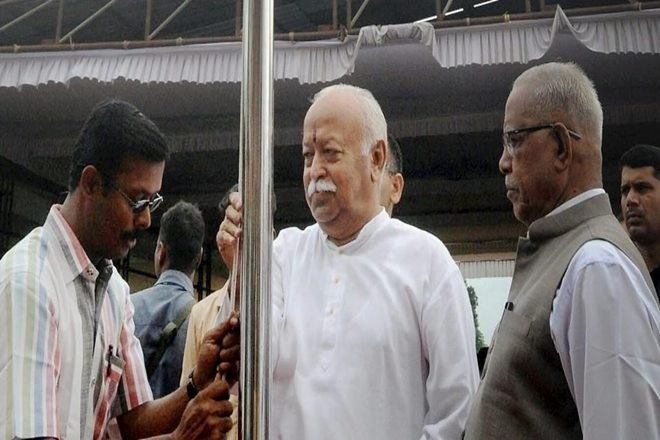 Mohan Bhagwat defies CPI(M) Government order, unfurls tricolour at school