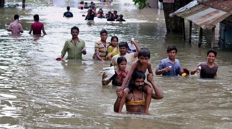 Floods displace thousands in Bihar