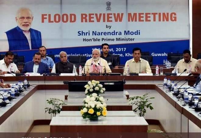 PM's Rs 2,350 cr aid for flood-hit NE
