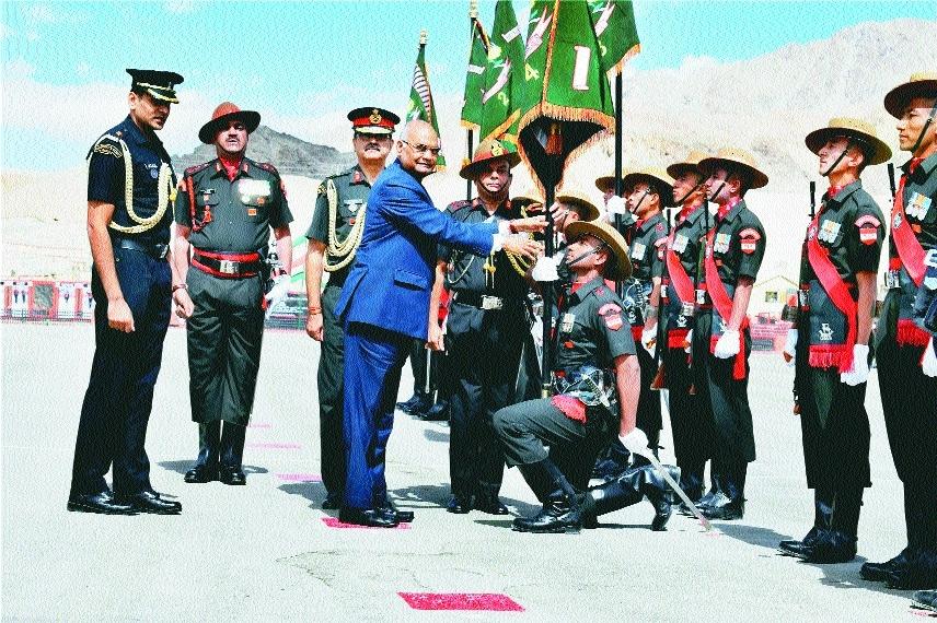 President Ram Nath Kovind in Leh Ladakh Regimental Centre.jpg