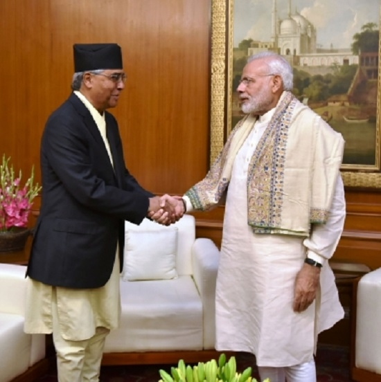 Modi pays surprise call on Nepal PM