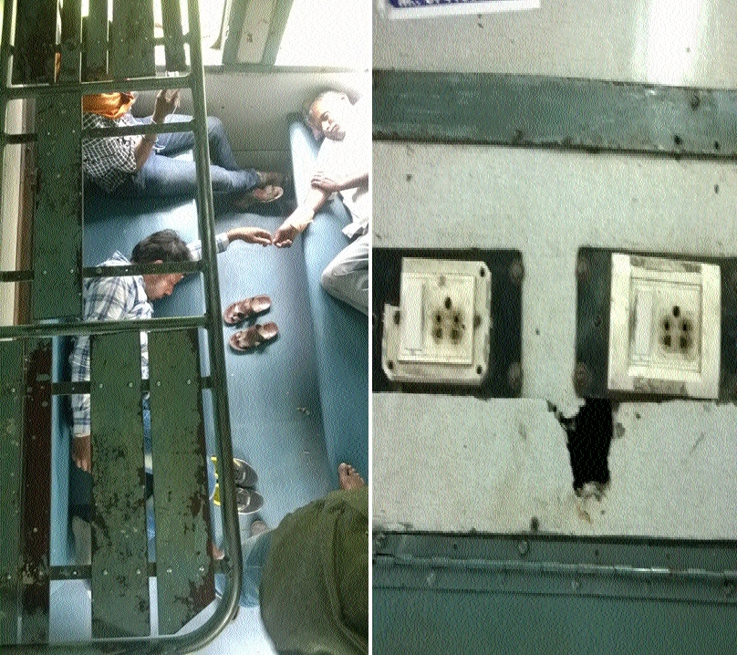 General coaches of Durg-Jaipur Exp in pathetic state