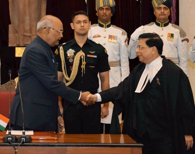 Dipak Misra sworn in as 45th CJI
