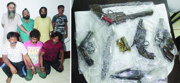 Major arms haul busted; guns, bullets seized