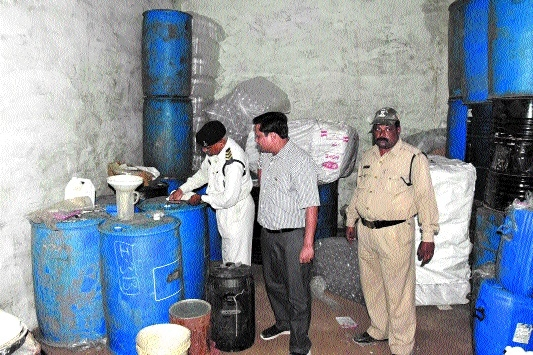 7,000 ltr inflammable material seized