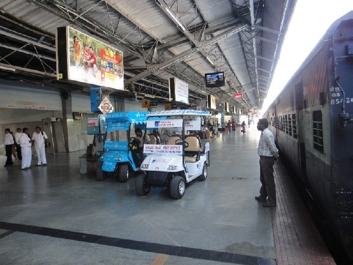 Battery-operated cars to start again at Rly Station