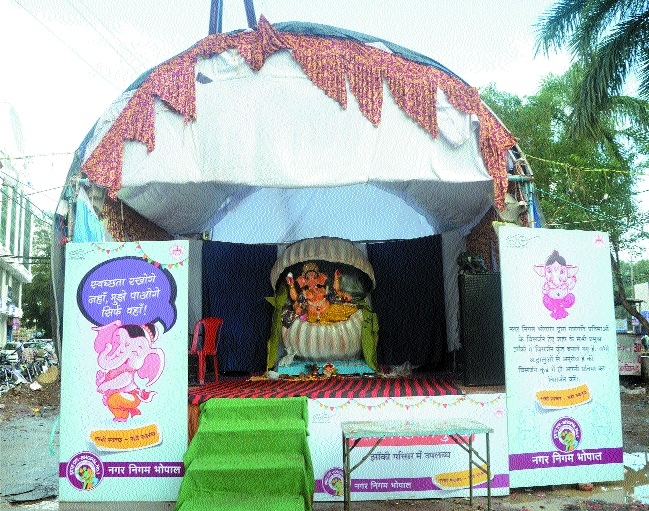 Ganesh pandals gear up for Swachhatam Jhanki contest