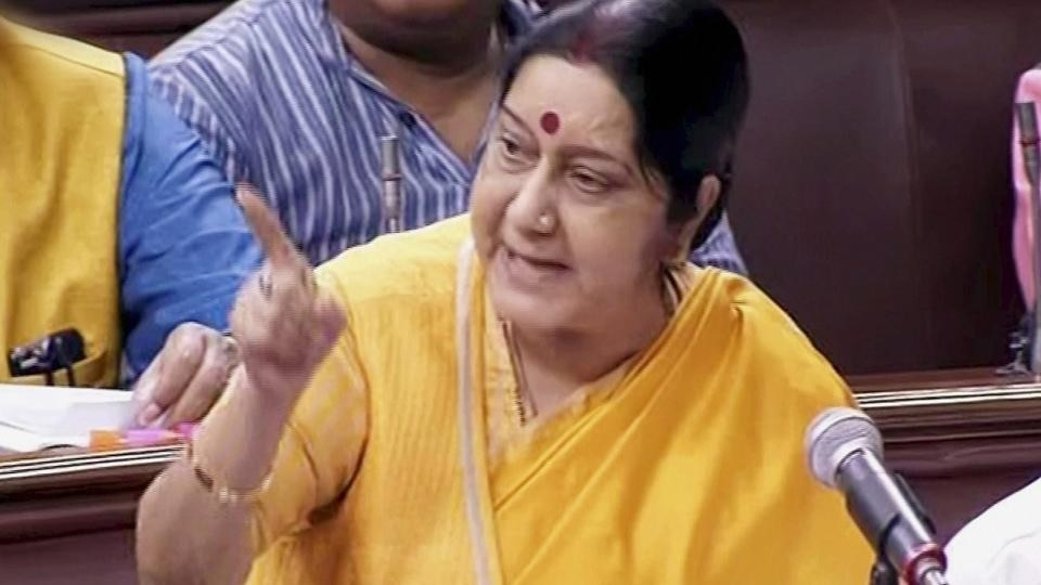 War no solution: Sushma in RS on China stand-off