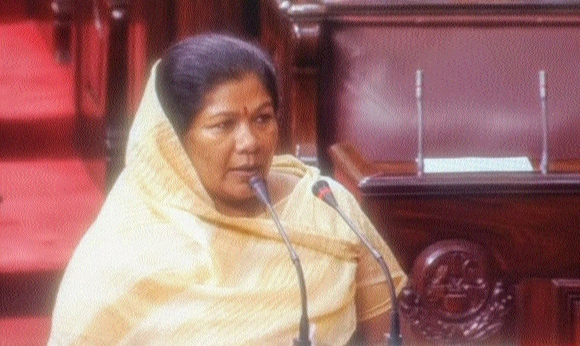 Sampatiya Uike takes oath in Rajya Sabha
