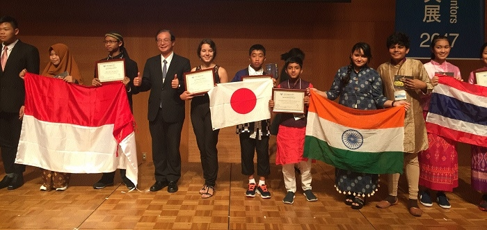 N H Goel students awarded at International event