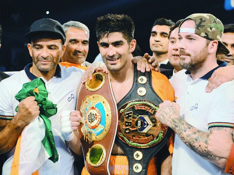 Vijender offers to return title, wants peace with China