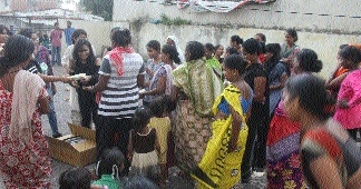 Sanitary napkins distributed in slums