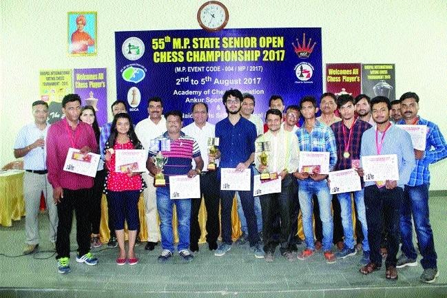 Rupeshkant wins 55th State Sr Open Chess