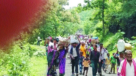 Relocated villagers for Gullarghat to encroach forest land