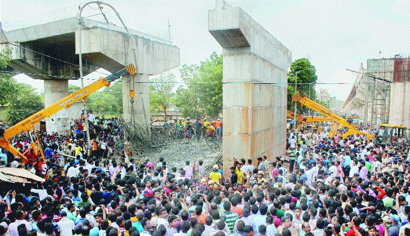 Under-construction flyover collapses in Odisha; one killed, 15 injured