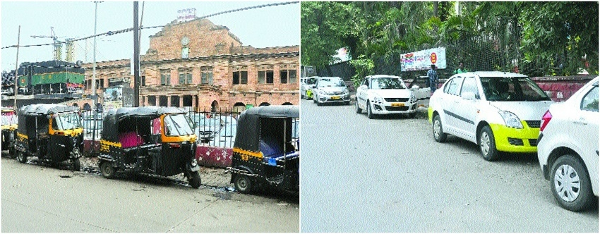 Monopoly under threat, auto drivers stop cabs at Rly Station